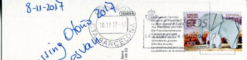 Intercambio postalero - POSTCROSSING OTOÑO 2017 / EL DESVAN Postcr11