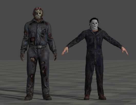 Jason Voorhees and Michael Myers Video Game Models Size Comparison  Image010