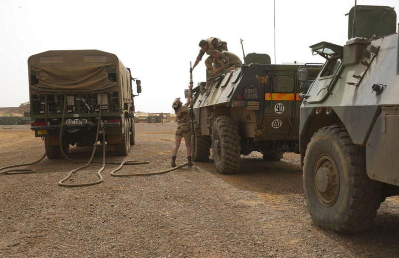 Engagement du groupement tactique désert blindé Dauphin  2013tm10