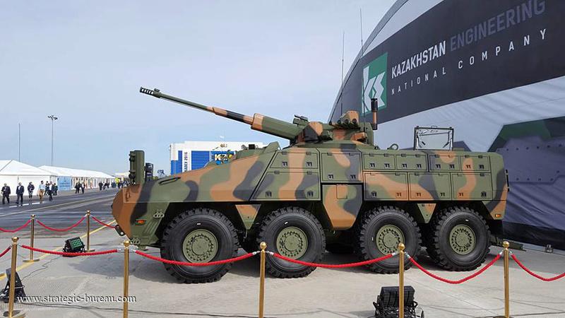 Le Kazakhstan teste le blindé 8x8 Barys/Mbombe Barys810