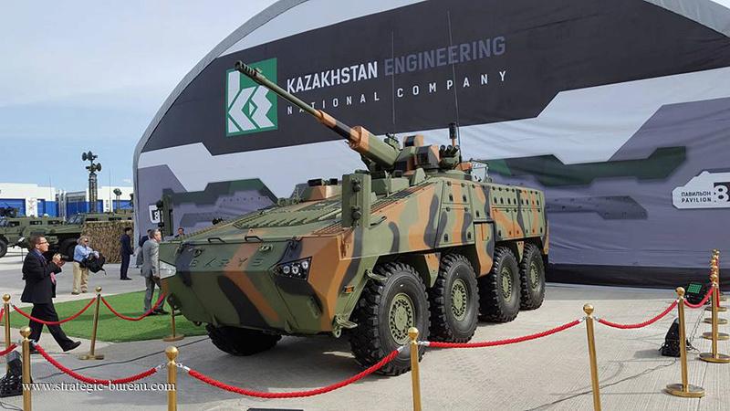 Le Kazakhstan teste le blindé 8x8 Barys/Mbombe Barys812