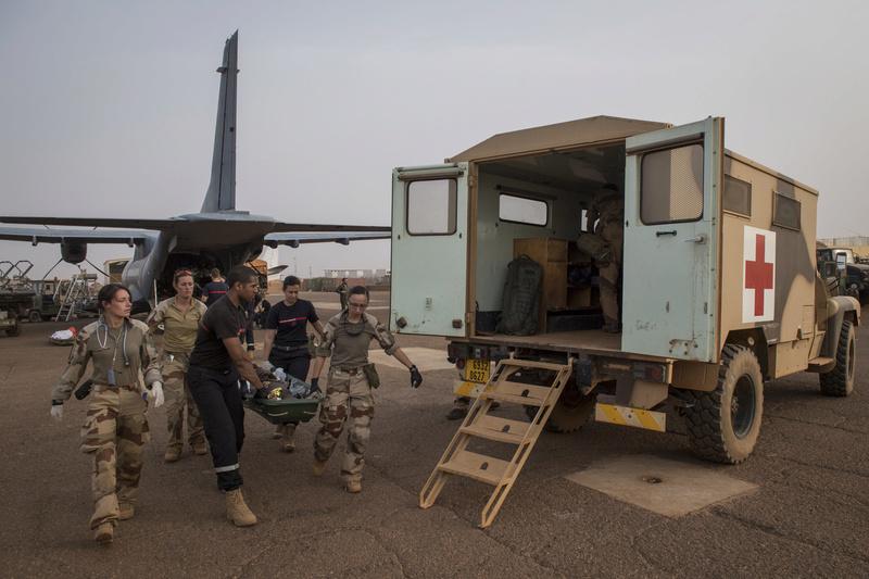 Evacuation sanitaire au profit des forces armées maliennes Evac110