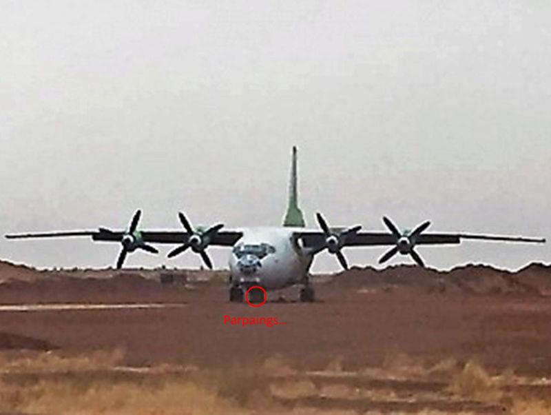 Un An-12 au service de Barkhane en rade sur la piste de Gao Image244