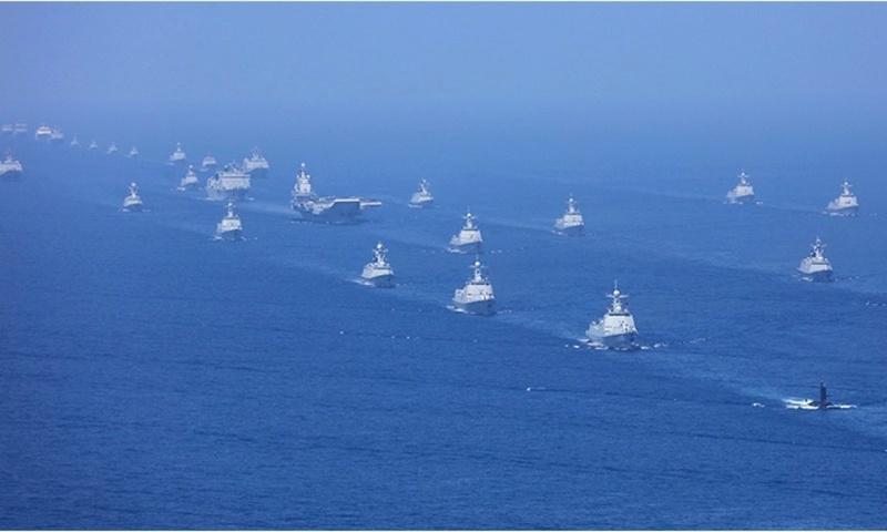 "48 navires de guerre chinois devant ""le grand timonier"" ! Parade10"