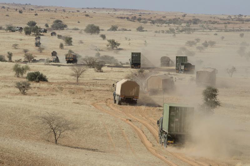 Engagement du groupement tactique désert blindé Dauphin  Train110