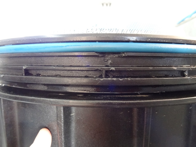 Petite casse sur la cuve du filtre à cartouche FCW 100 Wat110