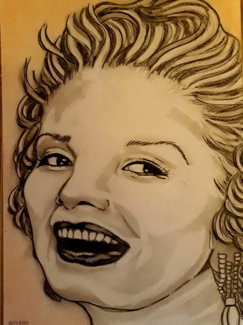 portraits marilyne monroe et dessin elephant  20180310