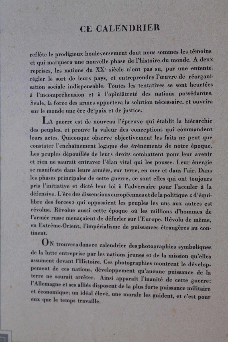 """Calendrier pour 1943 """"L'Ordre Nouveau est en Marche"""" Img_7818"""