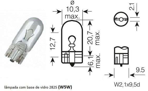 Lâmpadas externas e internas (March) L_w5w_10