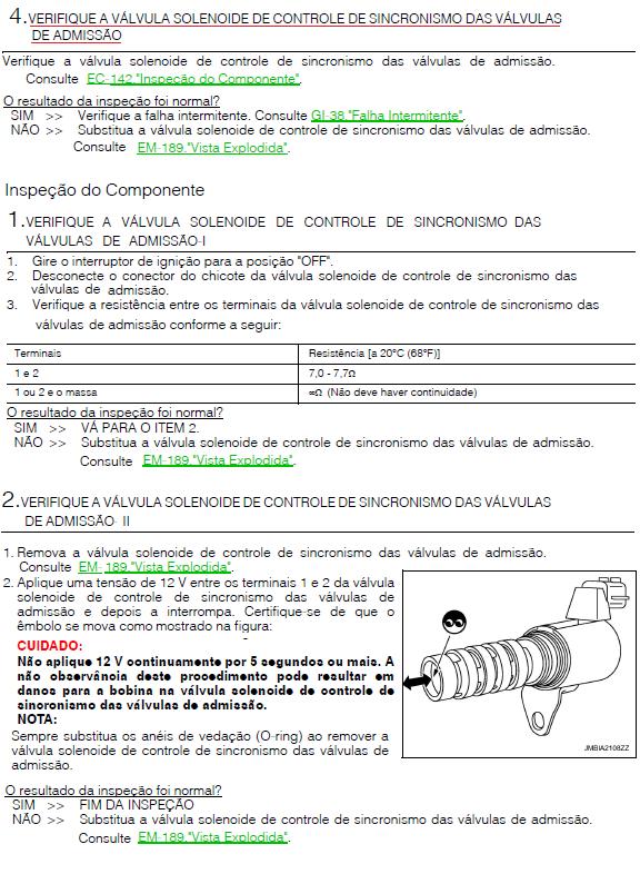Erro P0075 NISSAN SENTRA P0075_13