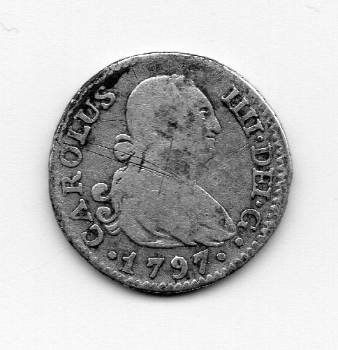 1/2 Real 1797. Carlos IV. Madrid MF  Moneda10