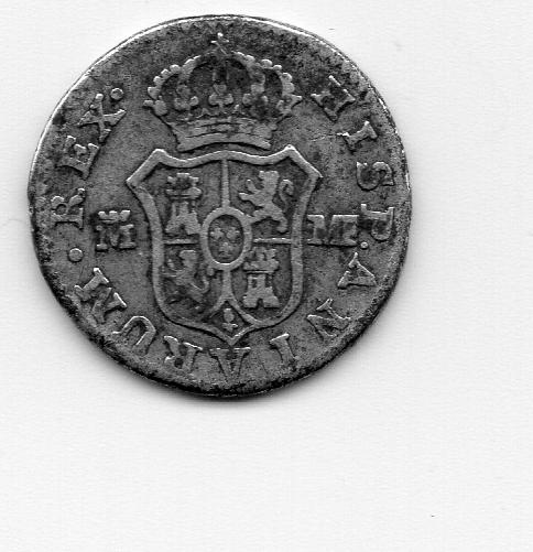 1/2 Real 1797. Carlos IV. Madrid MF  Moneda11
