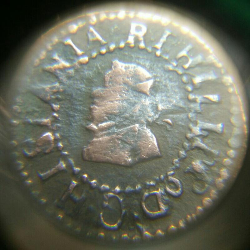Un seiseno o sisé de Felipe IV de Barcelona de 1642 Cay05022