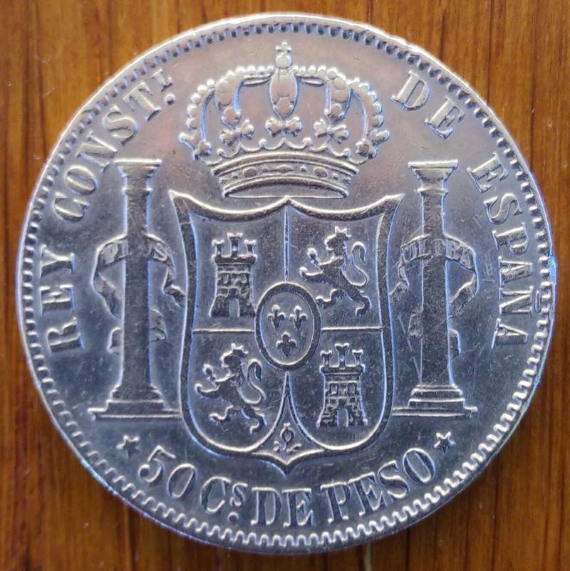 1884 Manila 50 Centavos de Peso Alfonso XII Img_2011