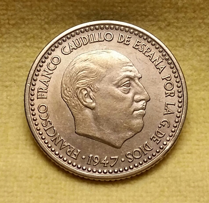 1 Peseta 1947 (*19-50). Estado Español 20171110
