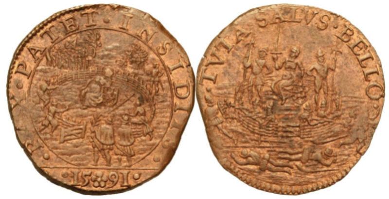 Jeton 1591 Bélgica  Reject10