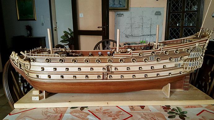 Le HMS Prince 1670 de Constructo au 1/61e de Captain Chris - Page 5 Batter13