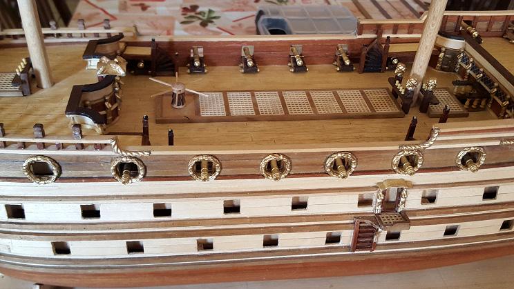 Le HMS Prince 1670 de Constructo au 1/61e de Captain Chris - Page 4 Canons14