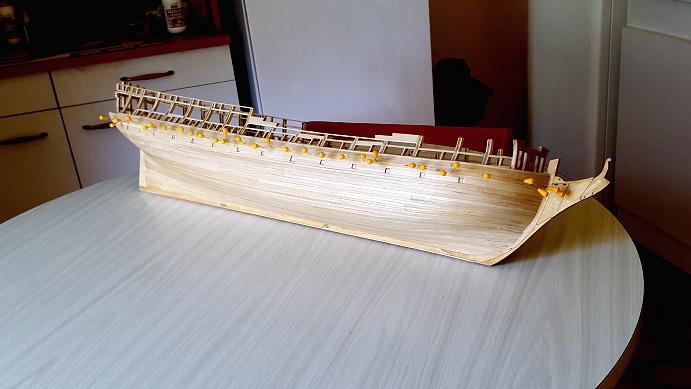 La Confederacy de 1772 au 1/64 par Model Shipways - Page 4 Coque_16