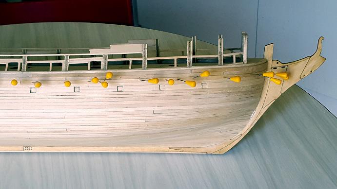 La Confederacy de 1772 au 1/64 par Model Shipways - Page 4 Coque_18