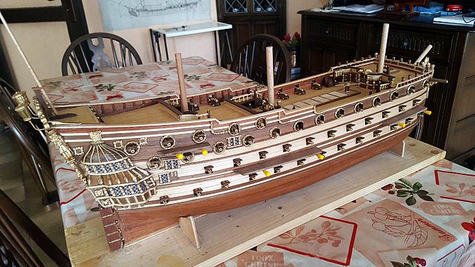 Le HMS Prince 1670 de Constructo au 1/61e de Captain Chris - Page 6 Hauban10