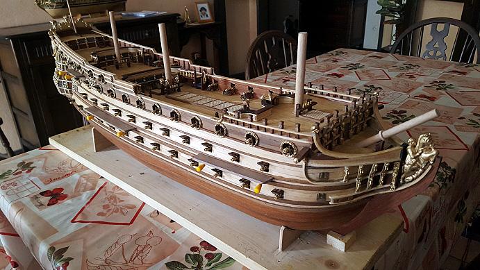 Le HMS Prince 1670 de Constructo au 1/61e de Captain Chris - Page 6 Hauban11