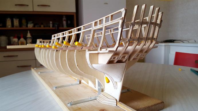 La Confederacy de 1772 au 1/64 par Model Shipways Sabord10