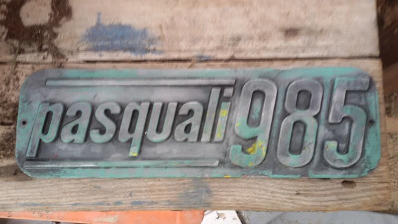 [Pasquali] Quitar pintura chapa logotipo aluminio 20180310