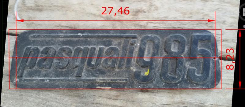 [Pasquali] Quitar pintura chapa logotipo aluminio Placa_10