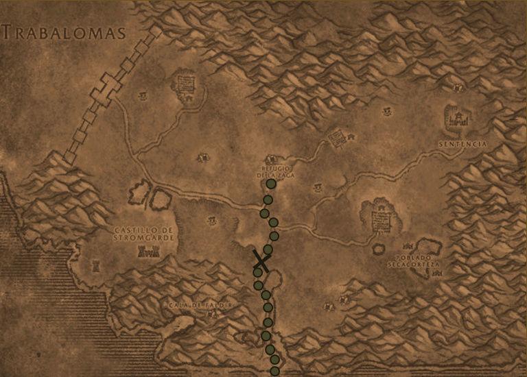 Diario de Sir Loth de Okney, sucesos de la expedición a las Tierras Altas: Mapa_g10