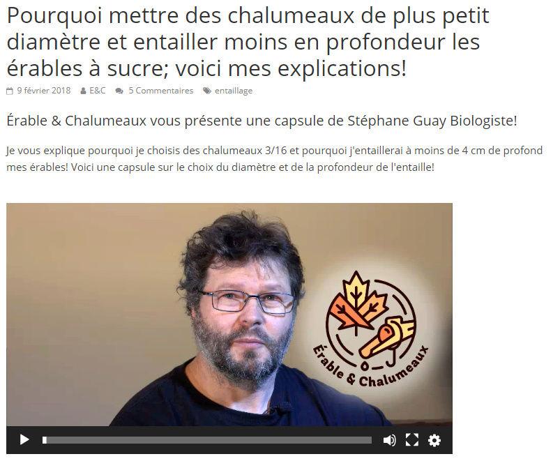 Érable & chalumeaux - Stephane Guay Diamet10