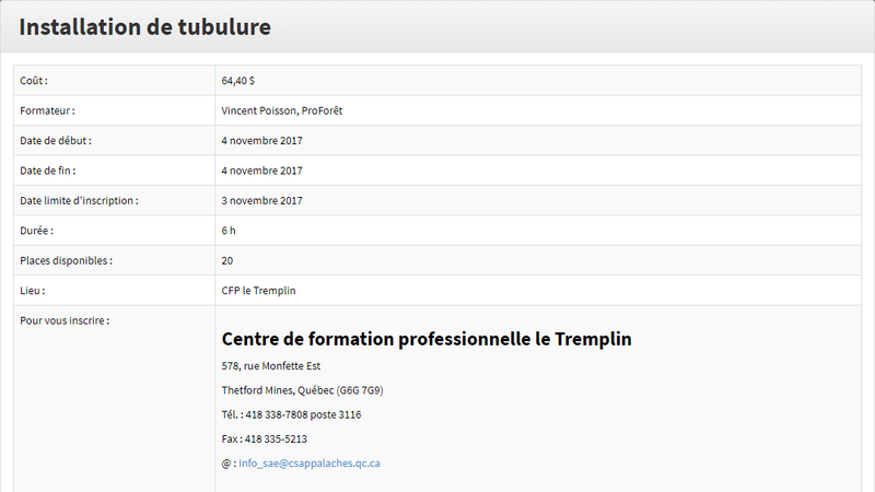 Formation tubulure Format10