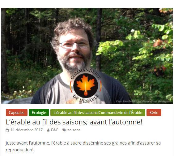 Érable & chalumeaux - Stephane Guay Saison10