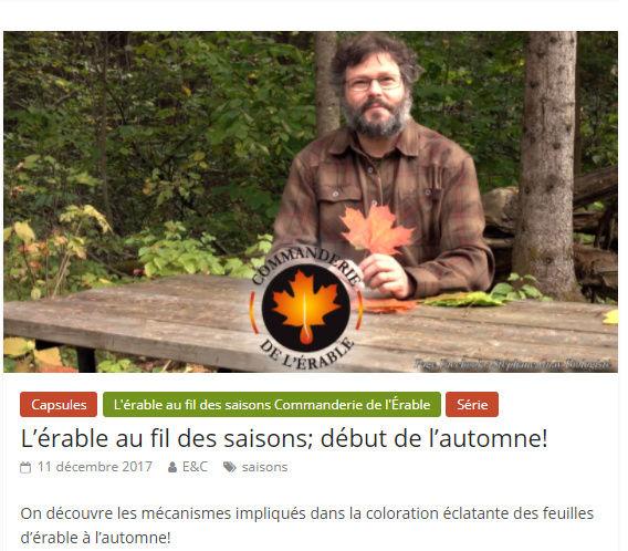 Érable & chalumeaux - Stephane Guay Saison11