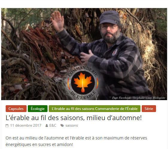 Érable & chalumeaux - Stephane Guay Saison12