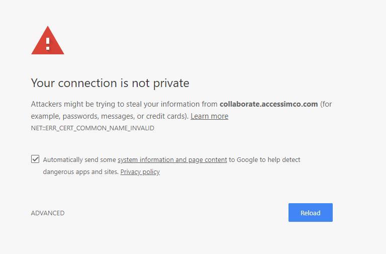 modernbb - Connection not secure error Screen10