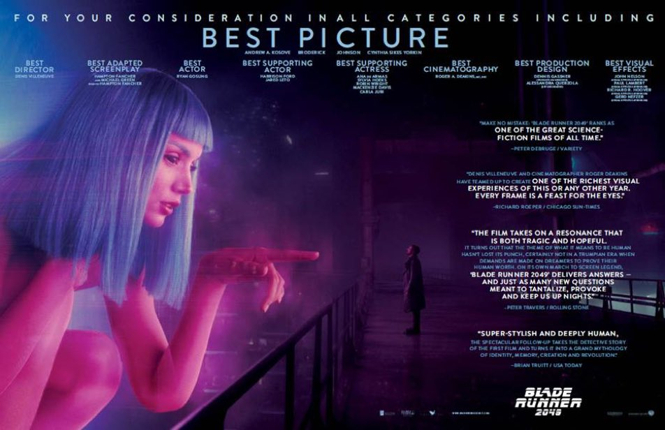 Topics tagged under directorinspiration on Blade Runner | RIDLEY'S ANGELS Oscar10