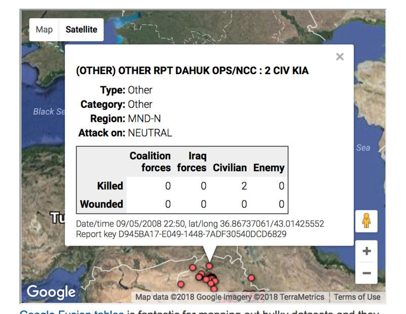 The casualties of the Iraq war, mapped Screen10