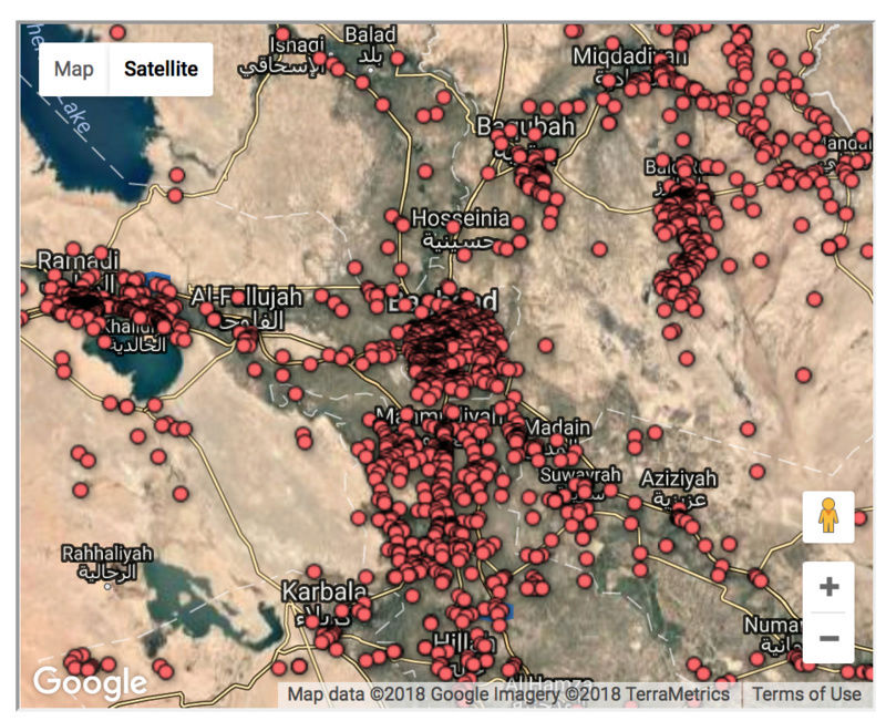 The casualties of the Iraq war, mapped Screen14