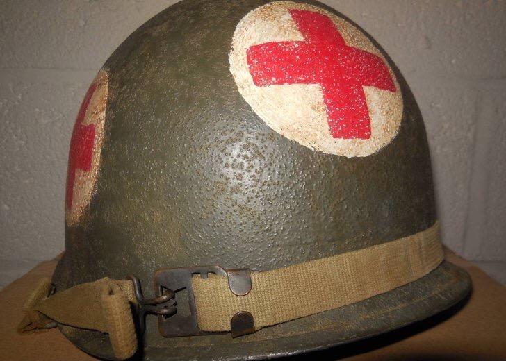 Casque medic Us ww2  Img_3012