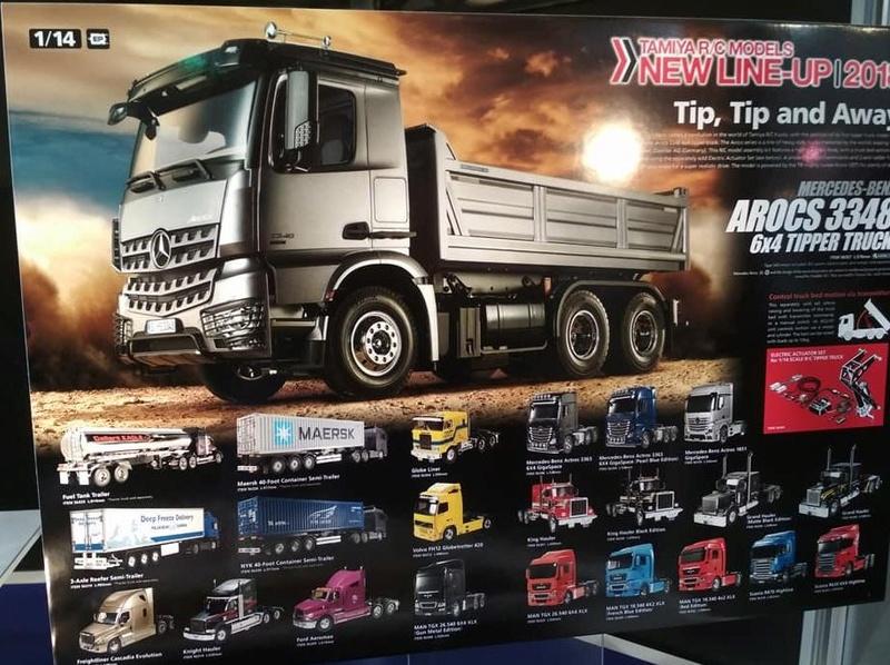 Nuevo Tamiya Mercedes-Benz Arocs 3348 6×4 Tipper Truck 411