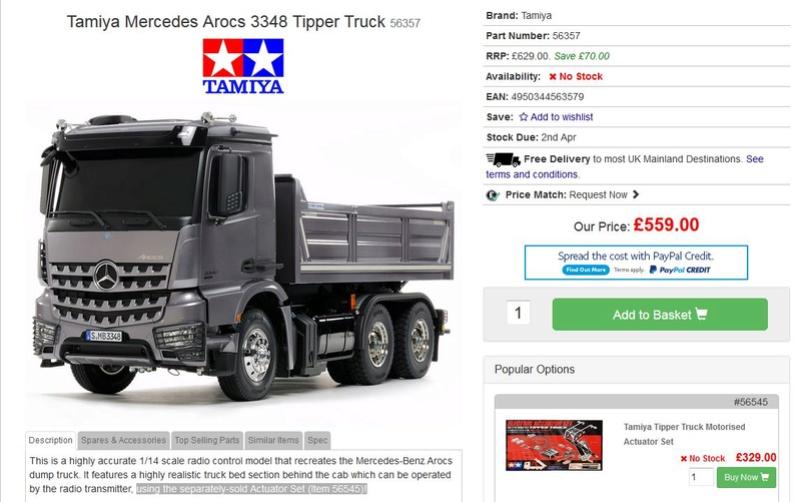 Nuevo Tamiya Mercedes-Benz Arocs 3348 6×4 Tipper Truck Captur10