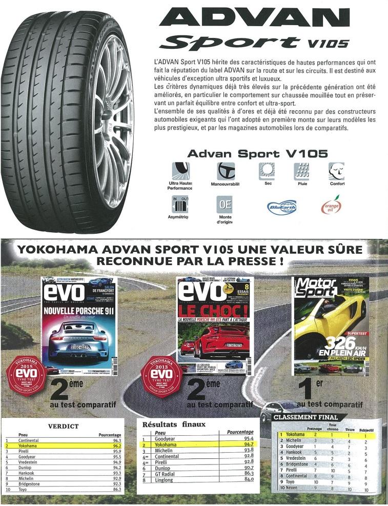 Catalogue Yokohama, Revendeur France, Tarifs V10510