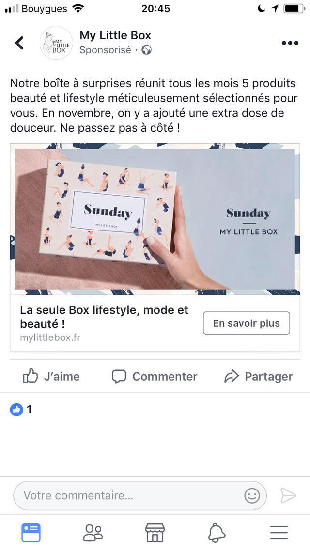 """[Novembre 2017] My Little Box """"Sunday Box"""" Ed441710"""