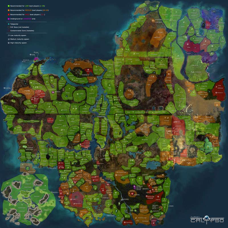 Mapas de Calypso - Localizações  Mapa_110