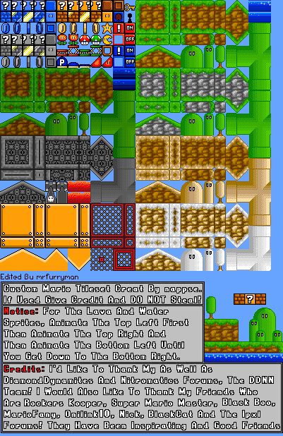 i need some Help with making these tiles 16 bit Non_1613