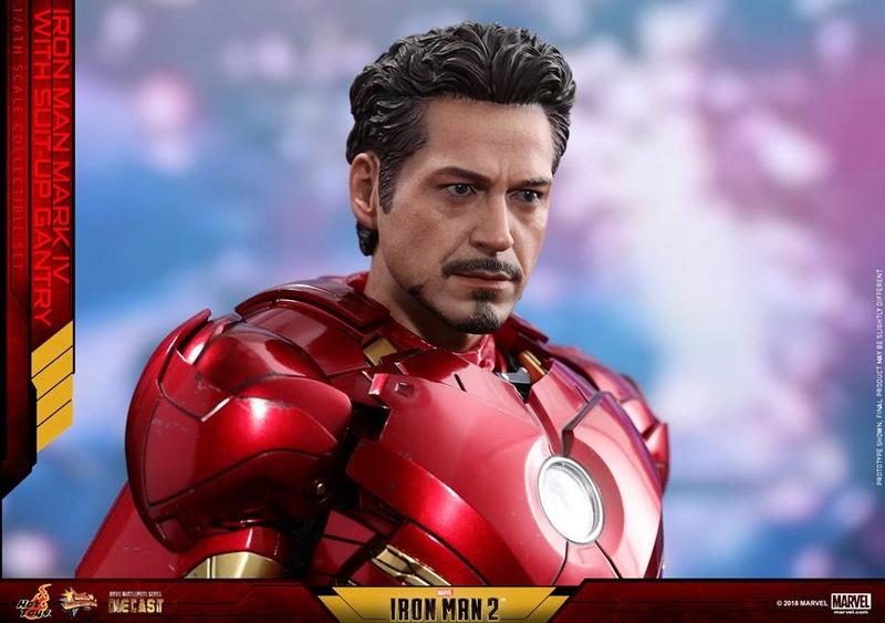 [Hot Toys] -Iron Man 2-Mark IV with Suit-Up Gantry 1/6 26047310