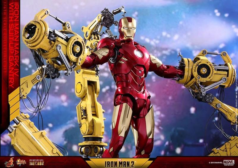 [Hot Toys] -Iron Man 2-Mark IV with Suit-Up Gantry 1/6 26165211