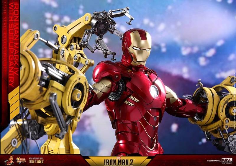 [Hot Toys] -Iron Man 2-Mark IV with Suit-Up Gantry 1/6 26165311