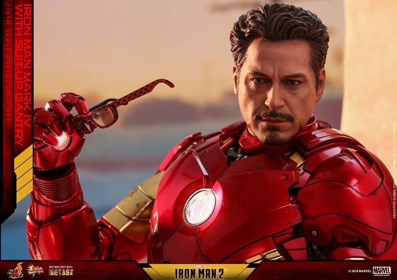 [Hot Toys] -Iron Man 2-Mark IV with Suit-Up Gantry 1/6 26165911